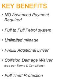 Malaga Car Hire Key Benefits